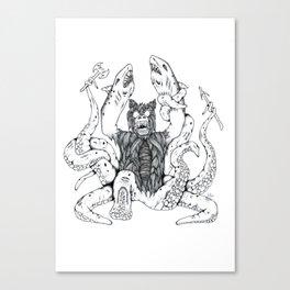 The Bearshark'topus Canvas Print