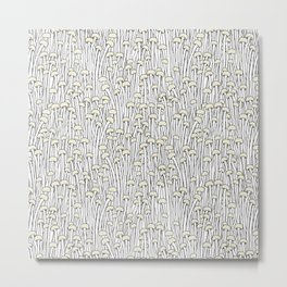 Enokitake Mushrooms (pattern) Metal Print