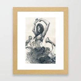 Danza by nicolas perruche Framed Art Print