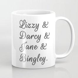 Pride and Prejudice Couples I Coffee Mug