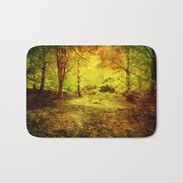 The light in the forest Bath Mat