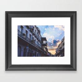 New Orleans, Louisiana at Sunset Framed Art Print