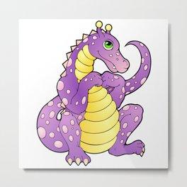 Pink and Purple Dragon Metal Print