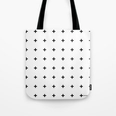 Black Plus on White /// www.pencilmeinstationery.com Tote Bag