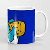 cookie monster Mugs featuring Cookie Juice by BinaryGod.com