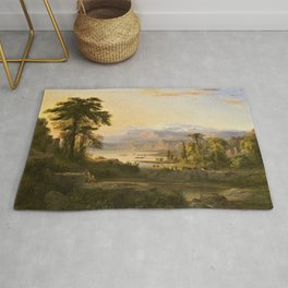 A Dream of Italy Pastoral Landscape by Robert Seldon Duncanson Rug