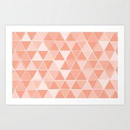 Coral Triangles Art Print