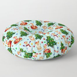 Blue Christmas - From Corgis, Santa And Christmas Trees Floor Pillow