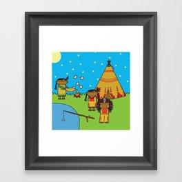 Indians Framed Art Print