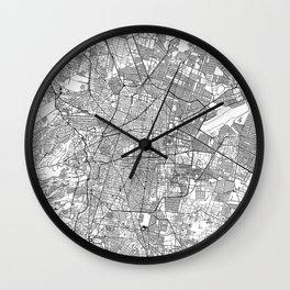 Mexico City White Map Wall Clock