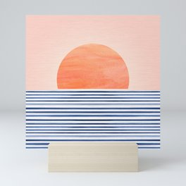 Summer Sunrise - Minimal Abstract Mini Art Print