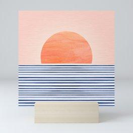 Summer Sunrise - Minimal Abstract Landscape Mini Art Print