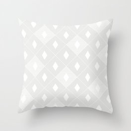 Harlequins - Ghost White Throw Pillow