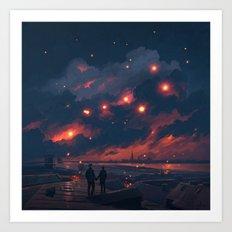 Magic Night Art Print