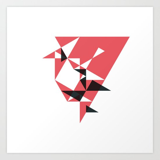 #178 Counter attack – Geometry Daily Art Print