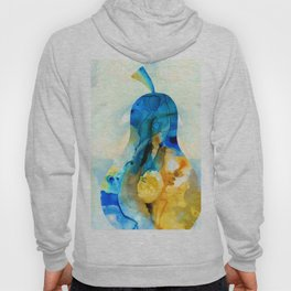 A Nice Pear - Abstract Art By Sharon Cummings Hoody