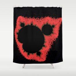 Living coral Mandelbrot arrow Shower Curtain