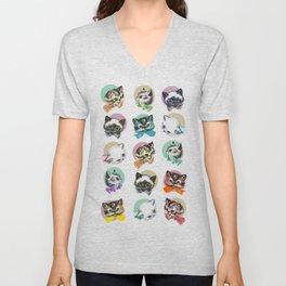 Cats & Bowties Unisex V-Neck