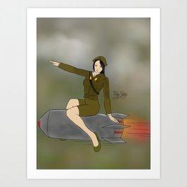 Korean Bombshell Art Print
