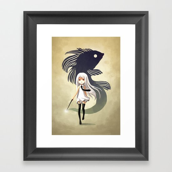 Black Moor Framed Art Print