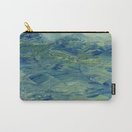 Abstract Blue Green Waves of Aqua Ocean Blue Mountains Carry-All Pouch