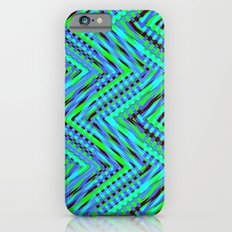 Chevron Blue Slim Case iPhone 6s