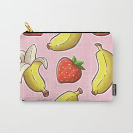 Strawberry and Banana Carry-All Pouch