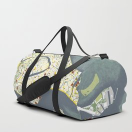 Venice city map antique Duffle Bag