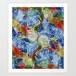 Jungle Leaves Art Print