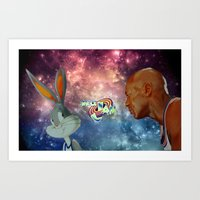 space jam Art Prints featuring Space Jam by Emil Engström