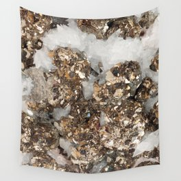 Pyrite and Quartz Wall Tapestry