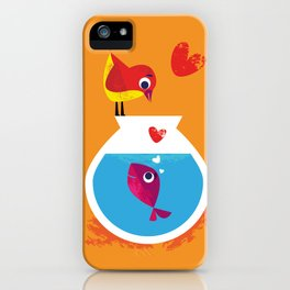 A Fish May Love a Bird but Where Would They Live?  iPhone Case