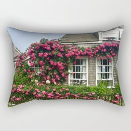 Rose House in Sconset Nantucket Rectangular Pillow