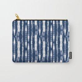 Shibori Stripes Indigo Blue Carry-All Pouch