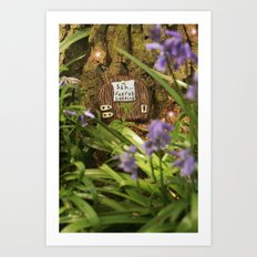Fairies sleeping Art Print