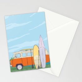 Best time to surfing Stationery Cards