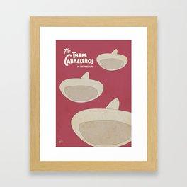 The Three Caballeros, old animated movie poster, minimal playbill, vintage musical, latin America Framed Art Print