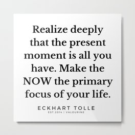 1  |Eckhart Tolle Quotes | 191024 Metal Print