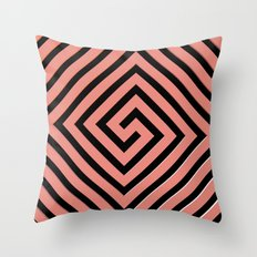 Peachy Greek Throw Pillow