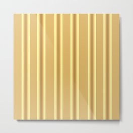 Beige Ocher  Vertical  Stripes  Background Metal Print