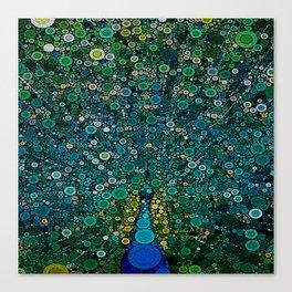 :: Peacock Caper :: Canvas Print