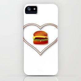 Love Burgers iPhone Case