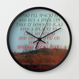 """""""Out On The Weekend"""" by Neil Young Wall Clock"""