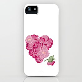 Heart of flowers iPhone Case