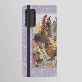 Pressed Flower English Garden Android Wallet Case