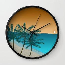 beach sunset Wall Clock
