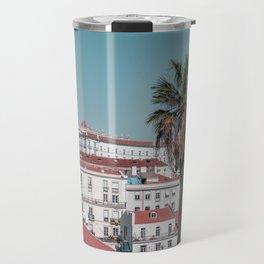 Alfama Lisbon and the palm tree Travel Mug