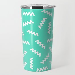 Memphis lines modern pattern Travel Mug