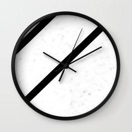 Marble Simplicity (Black) Wall Clock