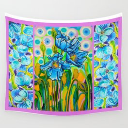Blue Poppies 2 Wall Tapestry